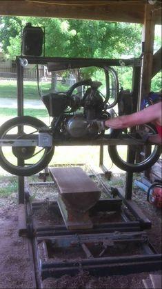 Motorcycle sawmill