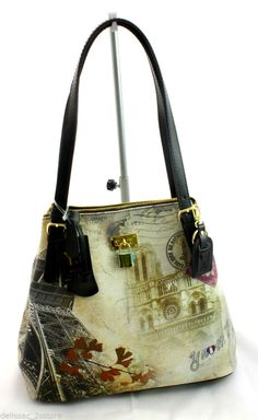 Borsa Y Not  Art.C-377 New Collection 2014 2015 Stampa Parigi monumentale fc1ddb345b6