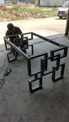 Discover thousands of images about table bois mètal design industriel sur mesure mobilier industriel