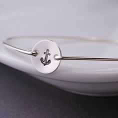 Anchor Bracelet Nautical Jewelry Anchor Jewelry by georgiedesigns