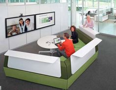 Office Insurance, Modern Office Designs, Home Office Furnitures, Office Decoration: Bank and Office Interiors with Collaboration Space Modern Office Design, Office Interior Design, Office Interiors, Office Designs, Design Interiors, Student Lounge, Office Lounge, Workspace Design, Co Working