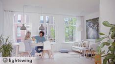 Verplaats en verwissel eenvoudig je hanglampen met de Lightswing. Met het unieke flexibele ophangsysteem hangen je lampen altijd op de juiste plek. 💫 New Living Room, Home And Living, Living Room Decor, Interior Inspiration, Living Room Designs, My House, Sweet Home, New Homes, Dining Table