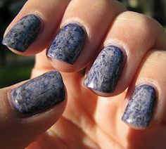 Over The Topcoat: Saran Wrap Manicure