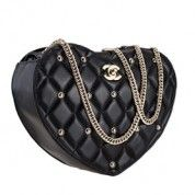 Chanel Black Quilted Heart Bag  $228