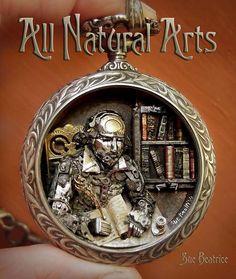 """Steampunk Art Jewelry - Watch-Parts """"Shakespeare Portrait"""" Pocket  Watch Pendant -  http://www.beadinggem.com/2016/02/steampunk-pocket-watch-jewelry.html"""
