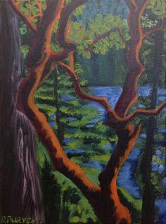 Arbutus Cove Oil Painting
