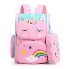 Baby Girl Toys, Toys For Girls, Girl Backpacks, School Backpacks, Little Girl Backpack, Barbie Doll Set, Unicorn Fashion, Unicorn Kids, School Bags For Kids