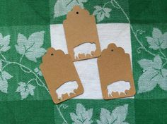 Die Cut Buffalo Tag by NatureCuts on Etsy