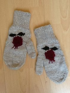 Pomegranate mittens from Goghovit Knits