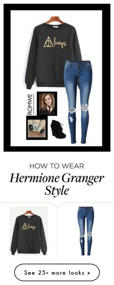 """""""Black sweater contest entry"""" by hadleysummer on Polyvore featuring WithChic, Jessica Simpson and Emma Watson"""