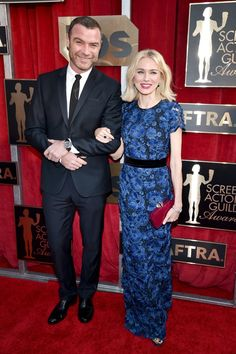 Pin for Later: Les Couples Ont Dominé le Tapis Rouge Lors des SAG Awards Liev Schreiber et Naomi Watts