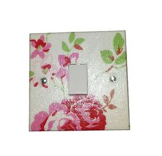 Light Switch Plate Made With Ikea Rosali or Cath Kidston Provence Rose Fabric | eBay