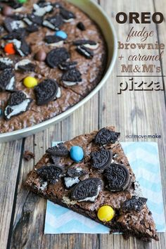 Oreo Brownie Pizza -