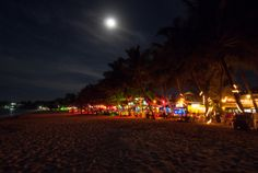 Cabarete, Dominican Republic | Cabarete Beach | Cabarete, Dominican Republic - Full Moon Over ...