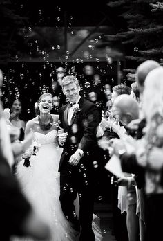 Bubbles for the exit would be cool- especially because my parents did it at their wedding.