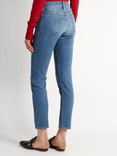 Le Garçon Jeans Jambe Droite - Denim Bleu Cadre Ok7uz