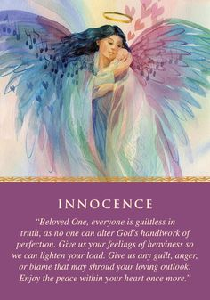 Oracle Card Innocence | Doreen Virtue | official Angel Therapy Web site [Another good card today.]