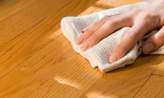 Wood floor care: #1 Take off shoes. #2 Vacuum or dust mop. #3 Deep clean with solution of 1 cup vinegar mixed with 1 gallon of water. Also: steep 1 bag of tea in 2 cups of boiling water and leave until it comes to room temperature. Remove tea bag and soak cloth in liquid, wring out then wipe floor clean. Fill scratches with a matching crayon and heat with blow dryer then buff out.