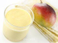 mango lassi1 mango, chopped  6 oz fat free Greek yogurt  1 cup fat free milk  1 1/2 tbsp sugar or honey  1 cup crushed ice