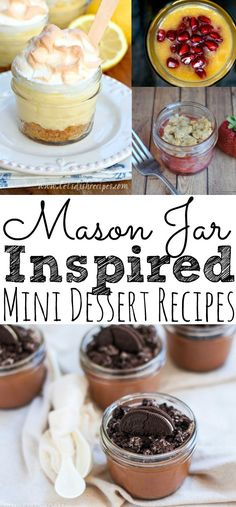 A list of over 25 easy and delicious mini dessert recipes to make ahead of time in a mason jar. Perfect for summer, fall, spring, and weddings! These recipes are amazing! Mini Desserts, Mini Dessert Recipes, Easy Summer Desserts, Make Ahead Desserts, Dessert In A Jar, Delicious Desserts, Recipes Dinner, Amazing Dessert Recipes, Dinner Ideas
