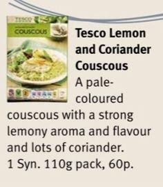 Tesco Lemon & Coriander Couscous