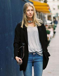 Scandinavian blonde street style