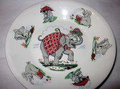 """Children's plate """"The elephant"""", Figgjo Stavanger, Elephant, Plates, Tableware, Design, Licence Plates, Plate, Dinnerware, Dishes"""