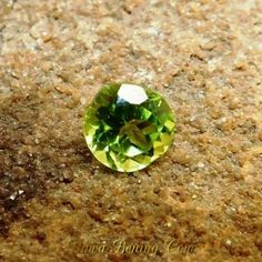 Batu Permata Natural Round Cut Greenish Peridot 1.45 Carat