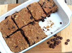 Homemade Banana Carob Protein Bars - Eating Bird Food