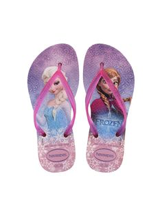 3736a29c4ce714 Havaianas Kids Disney Frozen flip flops in crystal rose pink