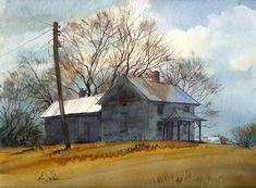 Vassmer's Old Farm print of an original by CathyJohnsonArt on Etsy, $35.00