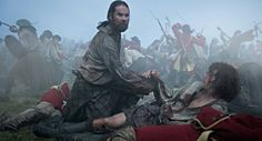 Murtagh helping Jamie at Culloden