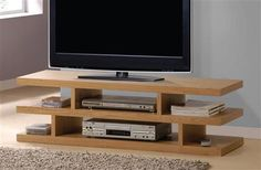 Scot Oak TV stand 91165 Features : Scot Collection Oak Finish With 2 shelves Dimensions : TV Stand : x x Tv Unit Furniture, Acme Furniture, Diy Furniture Projects, Furniture Design, Tv Stand Designs, House Ideas, Kabine, Small House Plans, Tv Stands