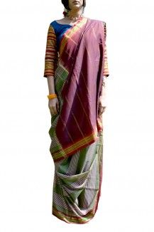 Ilkal Handwoven Cotton Silk Sari
