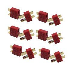 20 pcs Anti-dérapage Deans Plug-t type de Connecteur Femelle/Mâle pour RC Lipo Batterie ESC Rc Hélicoptère (10 paire)