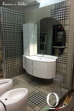 Miseria e Nobiltà #bathroom in Ceramiche Costanza's showroom