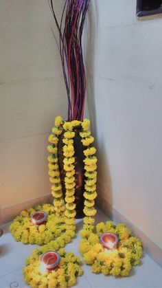 Discover some pretty interesting ways to do your pooja room decoration. Festive season calls for special decor; check out these pooja room decoration ideas. Diwali Decoration Lights, Diwali Decorations At Home, Festival Decorations, Flower Decorations, Diya Decoration Ideas, Hanging Decorations, Wedding Decorations, Decor Ideas, Rangoli Designs Flower