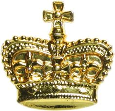 Metallic Crown Decorations: Gold (12) Image