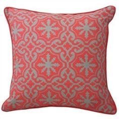 Coral Moroccan Linen Cushion Cover