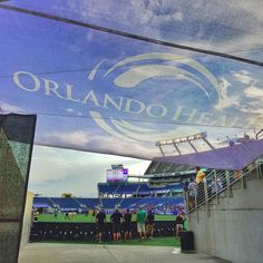 Through the tunnel at the @orlpride game tonight. #OrlandoStrong #OrlandoHealth