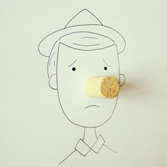 Javier Perez has created a clever series of illustrations that combine his pen work with everyday objects to create cute combinations. Object Drawing, Line Drawing, Creative Illustration, Illustration Art, Everyday Objects, Simple Art, Illustrations, Art Plastique, Creative Art