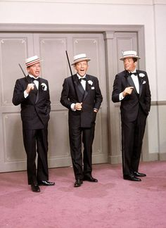 Frank Sinatra, Bing Crosby, and Dean Martin in ''Robin and the 7 Hoods'' (1964).