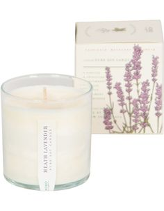 Heerlijke geurkaars van lavendel. Gemaakt van GMO free soja wax bij watMooi