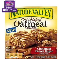Nature Valley Cinnamon Brown Sugar Soft-Baked Oatmeal Squares, 1.24 oz ...