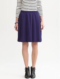 Pleated A-line skirt | Banana Republic