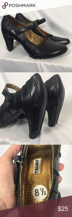 Tsubo black leather Mary Jane heels women's 8.5 New without box! Never worn. From smoke-free home. Women's size 8.5. Velcro strap. Tsubo Shoes Heels