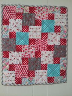 "Step Down Quilt I finished 5/4/13 after taking Sarah Fielke class ""Big Techniques from Small Scraps"" on Craftsy. The class teaches 6 different techniques & this is the 1st! Yeah, I can make 5 more mini's & Sarah is such a good teacher!"