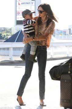 Miranda Kerr With Son Flynn Bloom in Sydney