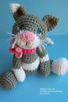 Cat, Simply Cute Crochet Pattern - this would make a cute baby shower gift