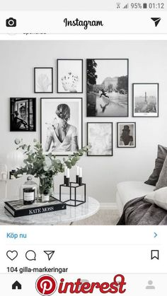 Lovin' this arrangement … mixed sizes are brought together with the use of the same frame and all B&W images. Lovin' this arrangement … mixed sizes are brought together with the use of the same frame and all B&W images. Living Room Interior, Home Living Room, Living Room Decor, Bedroom Decor, Picture Wall Living Room, Living Room Gallery Wall, Pictures On Wall Living Room, Bedroom Apartment, Home Design
